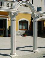 Colonne ornamentali in cemento